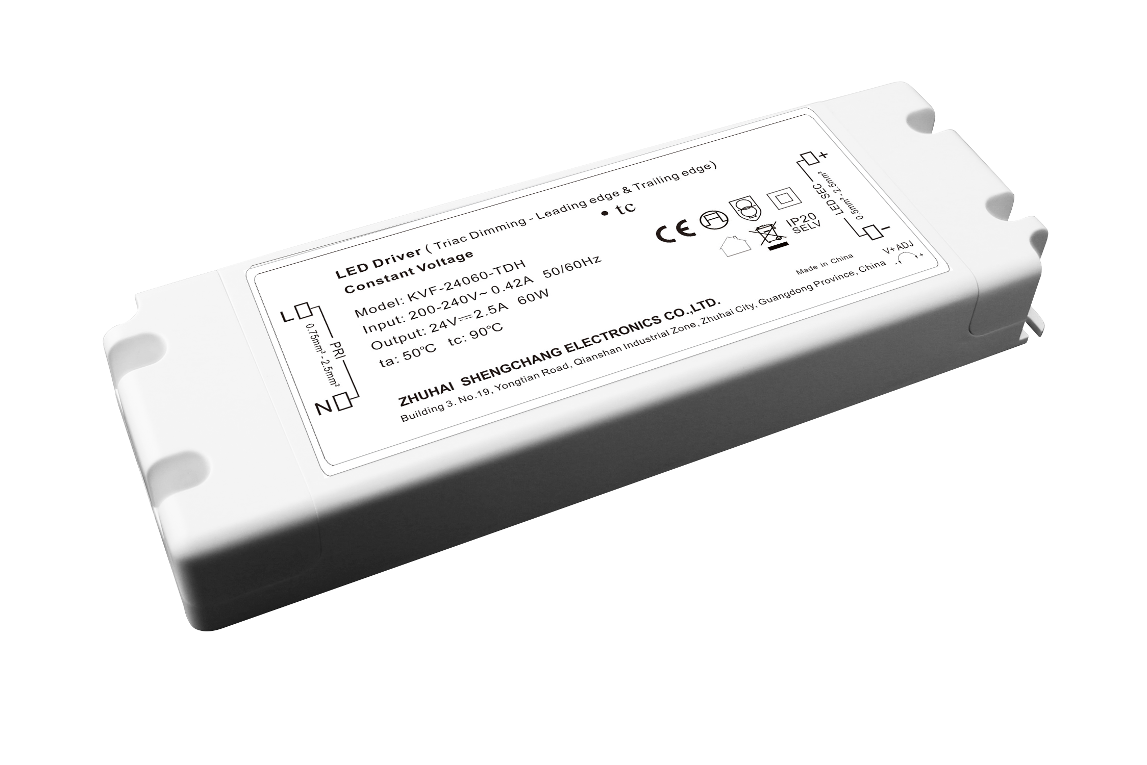 LED DRIVER 24V 60W DIMMBAR